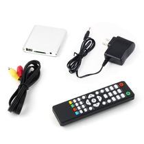 Mini 1080p Alta-definição Media Player Tv, Hdmi, Usb, Sd, Av