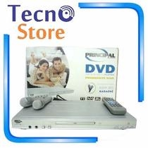 Dvd Player Principal Pr-dvd2011 Karaokê 2 Microfones Som 5.1
