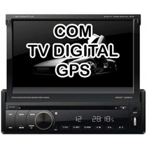 Dvd Retratil 7968 Tela 7 C/gps Tv Digital Usb Frontal+brind