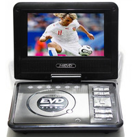 Dvd Portatil Multimedia Tv 7 Tela Lcd Cd Sd Usb Fm 300 Jogos