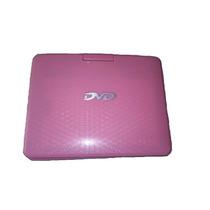 Dvd Player Portátil 7 Jogos Bolsa Usb Sd Tv Preto Com Rosa