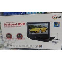 Dvd Portatil Tv 9,5 Tela Lcd Gira Rmvb