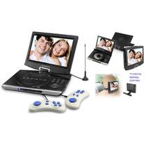 Dvd Portátil Powerpack 1063 Tv Digital + Jogos Tela 10,5¨