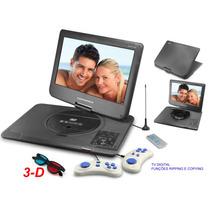 Dvd Portátil Carro Tv Digital Tela 15.6 Polegadas Jogos 3d