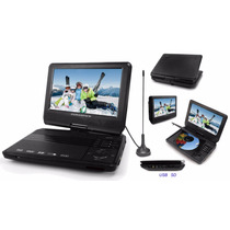 Dvd Portatil Powerpack 9005 Tela 9 Polegadas Tv Digital Game