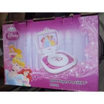 Dvd Player Portátil Fdt-08 Tela De 7 Disney Princesa