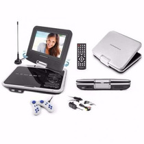 Dvd Portátil 7 Powerpack 7328 Com Suporte Veicular Usb/sd/tv