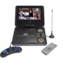 Dvd Portatil Rick 9.8 Pol C/ Jogos Usb + Sd + Tv + Radio Fm