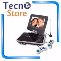 Dvd Portatil Powerpack 7328 Tela 7 Tv Jogos Suporte Veicular