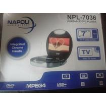 Dvd Portátil Tela De 7 Napoli Semi Novo