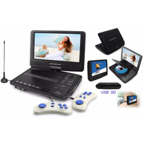 Dvd Portatil Powerpack 9003 Tela 9 Polegadas Tv Digital Game
