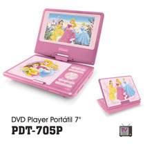 Dvd Portátil Infantil 7 Lcd Com Tv Pdt-705 Princesas/carros