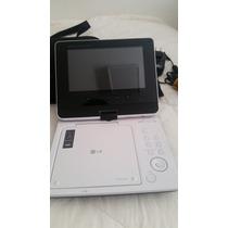 Dvd Player Portatil Lg Dp373b Usb Dvix Com Jogos E Case