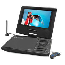 Dvd Portatil Tv Digital Tela 7 Gira 270º Sd Usb Fm Jogos