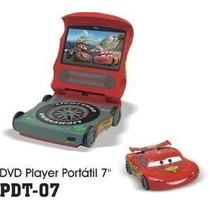 Dvd Portatil Infantil Disney Tela 7 Cars