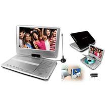 Dvd Portátil 9 Pol Powerpack Tv Digital 9000 Com Suporte
