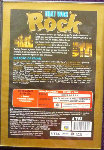 Dvd That Was Rock - Show Com 36 Músicas