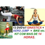 Aero Jump Abdomen Step Bike Alongamento Vídeo Aulas 12 Dvds!