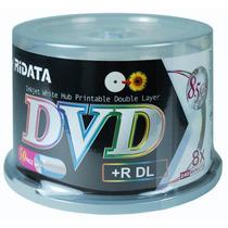 50 Dvd+r Ridata ( Id: Ritek ) Dual Layer 8.5gb Printable