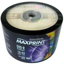 300 Dvd-r Maxprint Midia Virgem C/logo 1-16x 4.7g Lacrado