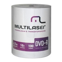 Dvd-r 100 Midia Virgem Multilaser Logo 8/16x Lacrado