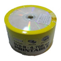 Dvd-r Hbs 16x 4.7gb Printable - 50 Unidades (shrink Lacrado)