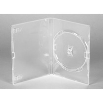 25 Estojos Capas Box Tradicional Transparentes Dvd