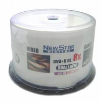 50 Dvd+r Dl 8.5 Mídia Virgem New Star Printable 8x Lacrado