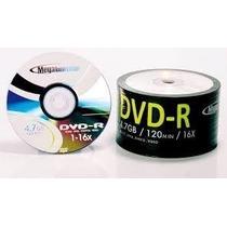 50 Dvd-r Megainovation Midia Virgem C/logo 16x 4.7g Lacrado
