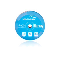 Dvd-r Multilaser 4x - 10 Unid Shirink Blu Ray Mania Virtual