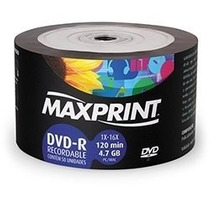 Dvd-r Maxprint 16x 4.7gb - Pino C/ 50 Un (shrink)