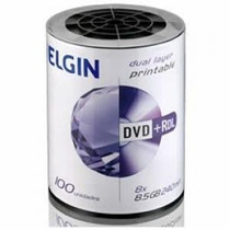 Dvd+r Dl Elgin (umedisc) 8.5gb 8x Printable - 100 Un Shrink