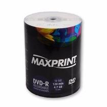 Maxprint 100 Dvd Mídia Virgem - 4.7gb 120min Dvd-r