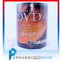 100 Dvd Mídia Virgem - 4.7gb 120min Dvd-r Com Logotipo