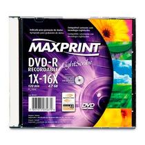Dvd-r Lightscribe 4.7gb 16x Maxprint Slim Caixa Acrílico