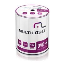 Dvd-r Multilaser 16x 4.7gb Com Logo 100 Unid. Lacrado Shrink