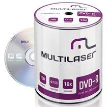 Tubo Dvd-r Maxprint 16x 4.7gb Shrink C/ 100 Unid Dv037