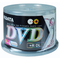 Dvd+r Dl Ridata 8.5gb 8x Printable - 50 Unidades