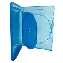 10 Estojo Capa Dvd Box Blu-ray Azul Duplo Grosso 14mm Novo