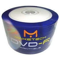 600 Dvd-r Maketech 16x Printable Ate O Miolo