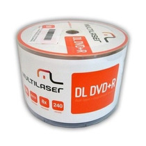 50 Dvd +r Printable Multilaser Dual Layer 8.5gb Umedisc Xgd3