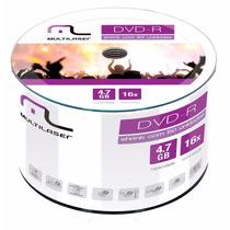 50 Midia Dvd-r Virgem Multilaser C/logo 16x 4.7g Original
