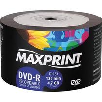 Bulk C/ 50 Dvd-r - Maxprint - 4,7gb - Leia A Descrição!