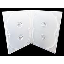 25 Capas Box Para Cd / Dvd Quadruplos Transparentes