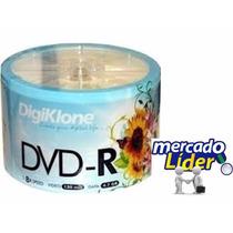 50 Dvd-r Midia Virgem Digiklone 8x - 4.7gb 120min C/logo