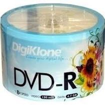 50 Dvd-r Midia Virgem Digiklone C/ Logo 8x - 4.7g Lacrado