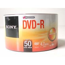 Dvd-r Sony 16x 4.7gb C/logo - 50 Unidades (shrink)