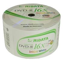 100 Dvd-r Ridata Printable Ate O Miolo ( Consulte Frete)