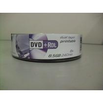 Dvd+r 8.5 Gb Dual Layer Printable C/25 Elgin #9876
