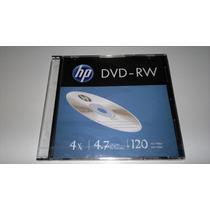 Kit 20 Disco Óptico Dvd-r Hp Virgem Hp Dvd -rw Regravável